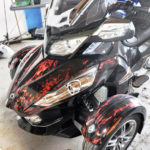 Natural Flame BRP Spyder Vinyl Wrap kit