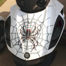 Woody Web Frunk section produced on transparent film allows the color of your bike to show through.