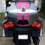 GT Racing stripes Pink reflective rear trunk w star- custom order