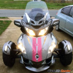 GT Racing stripes pink reflective w star- custom order