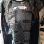F3 Spine carbon fiber with Silver under