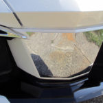 Chrome air dam insert for Spyder RT